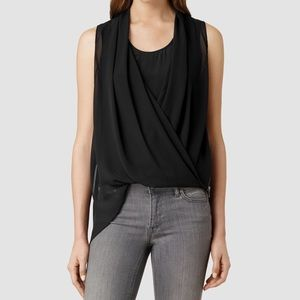 Allsaints Abi Top in Black